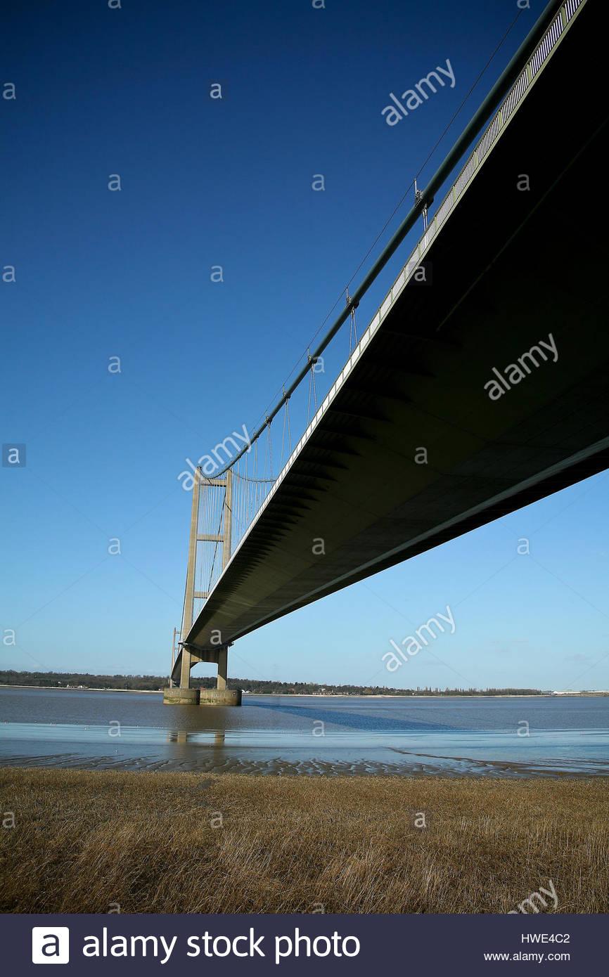 Humber Bridge, Humberside, UK. - Stock Image