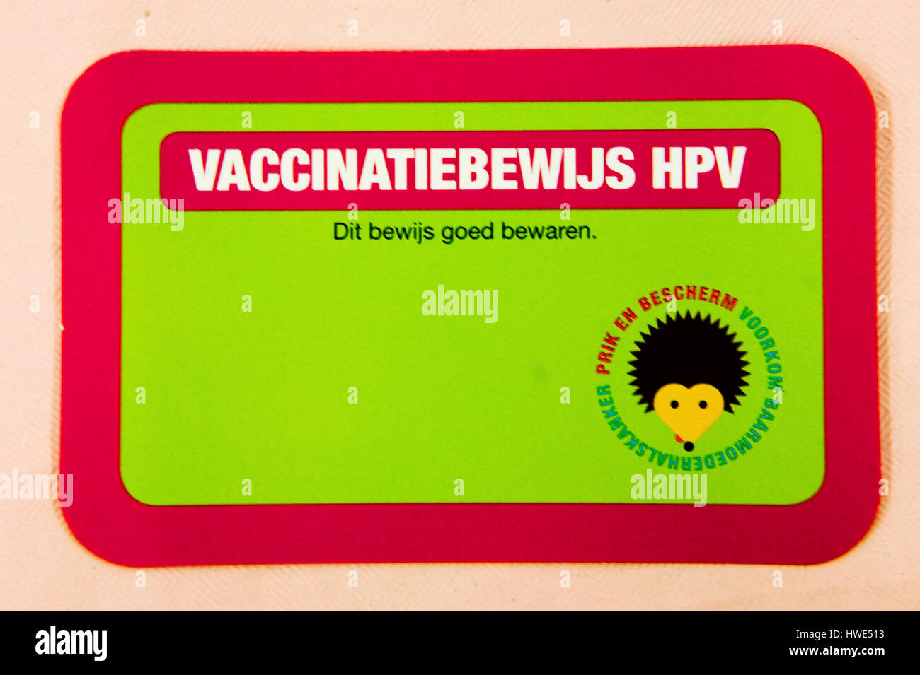 vaccination campaign against cervical cancer Stock Photo