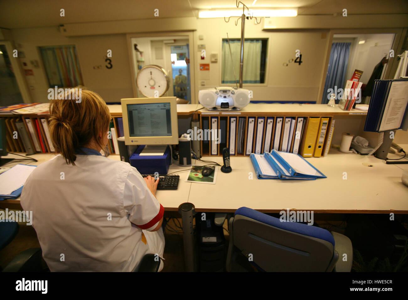 Nursing care at the leiden university hospital Stock Photo