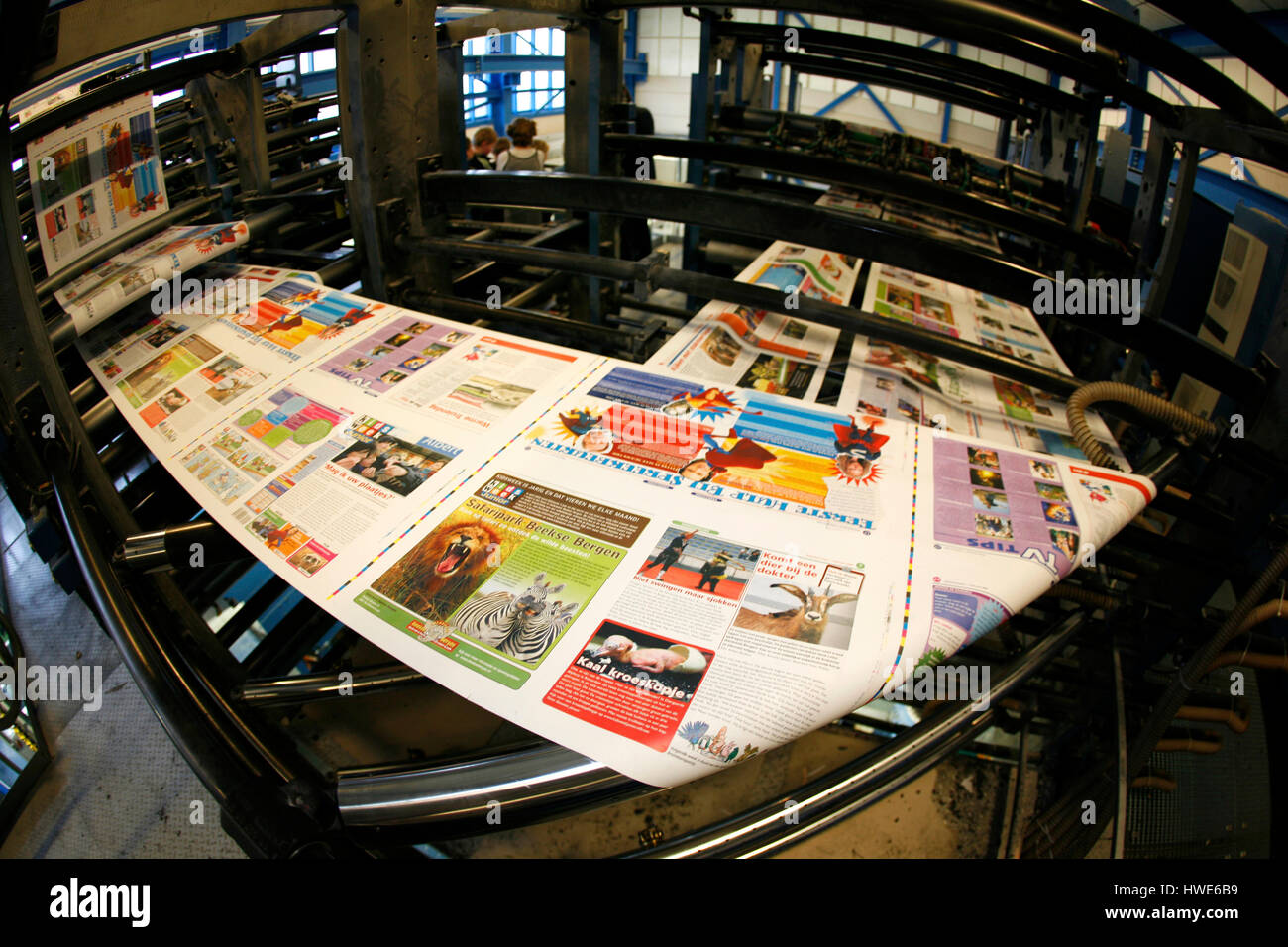 offset printing press - Stock Image