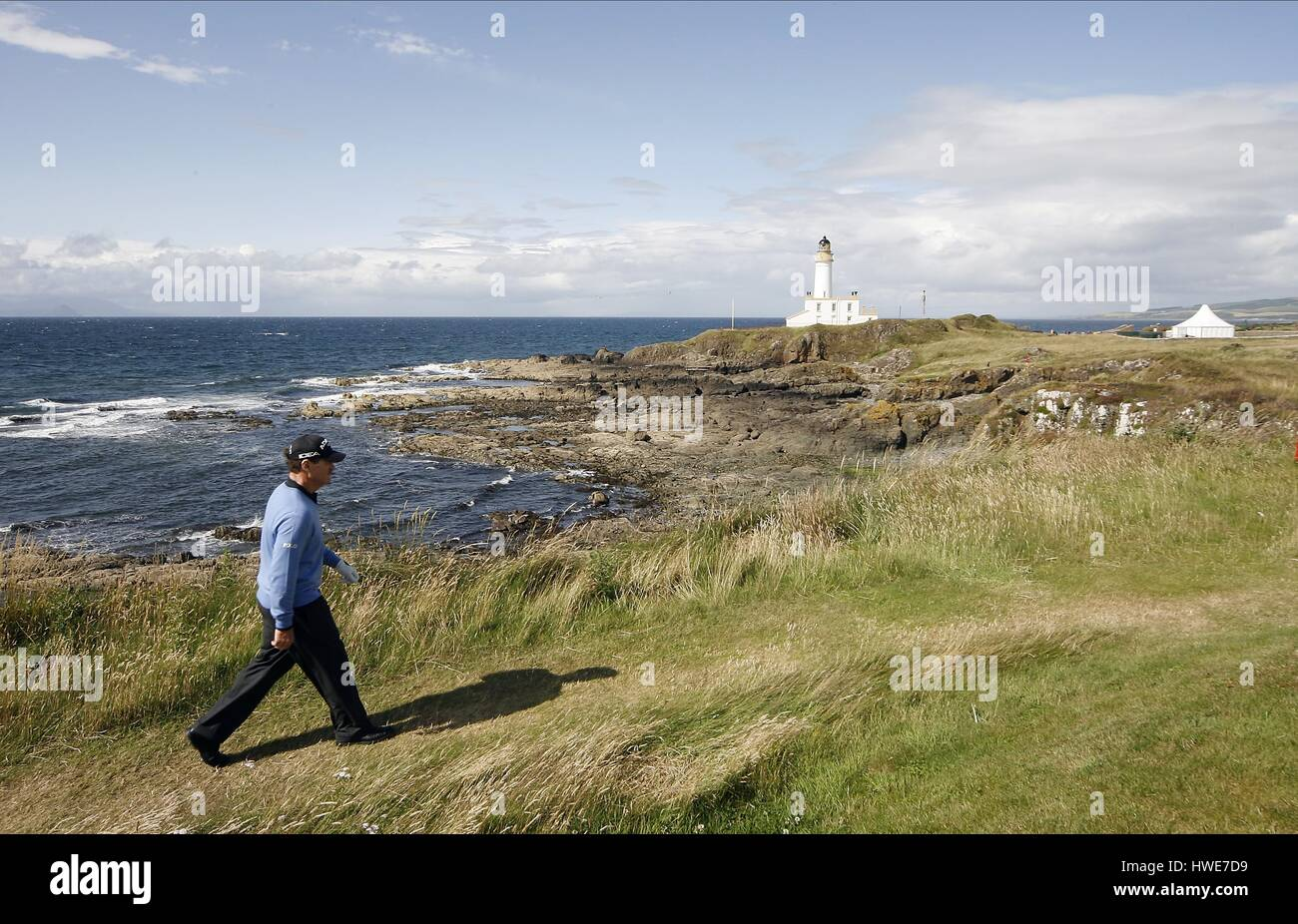 TOM WATSON ON THE 9TH HOLE THE OPEN TURNBERRY 2009 TURNBERRY AYRSHIRE SCOTLAND 19 July 2009 - Stock Image