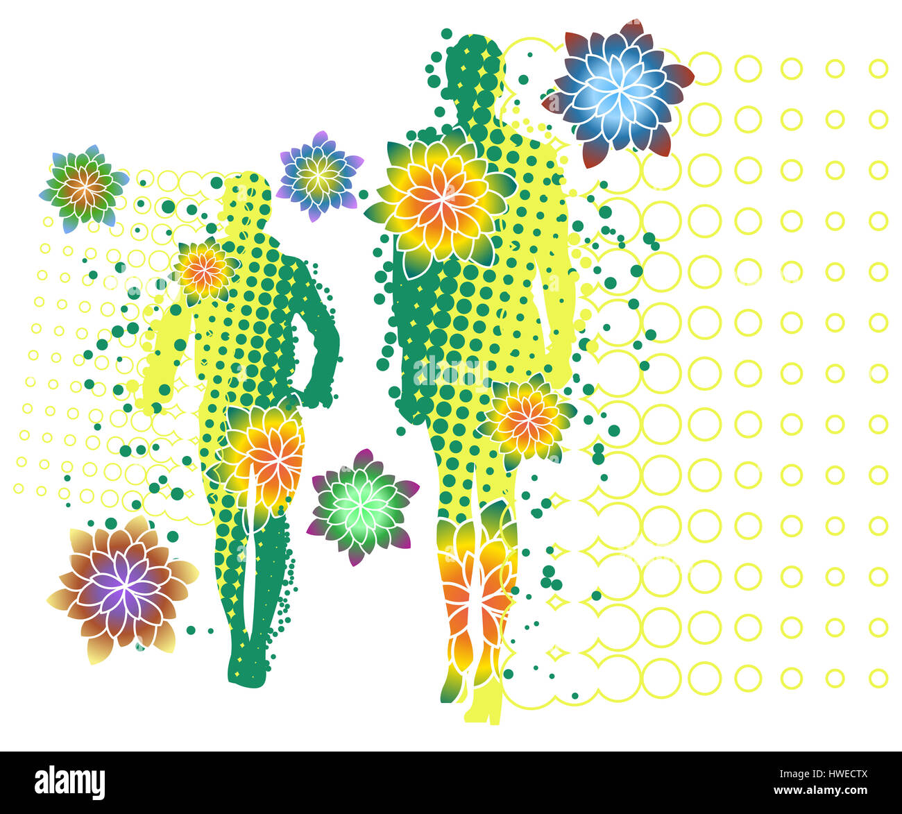 Man Two Man Men Generation Flower Flora Flower Pattern Design Stock Photo Alamy