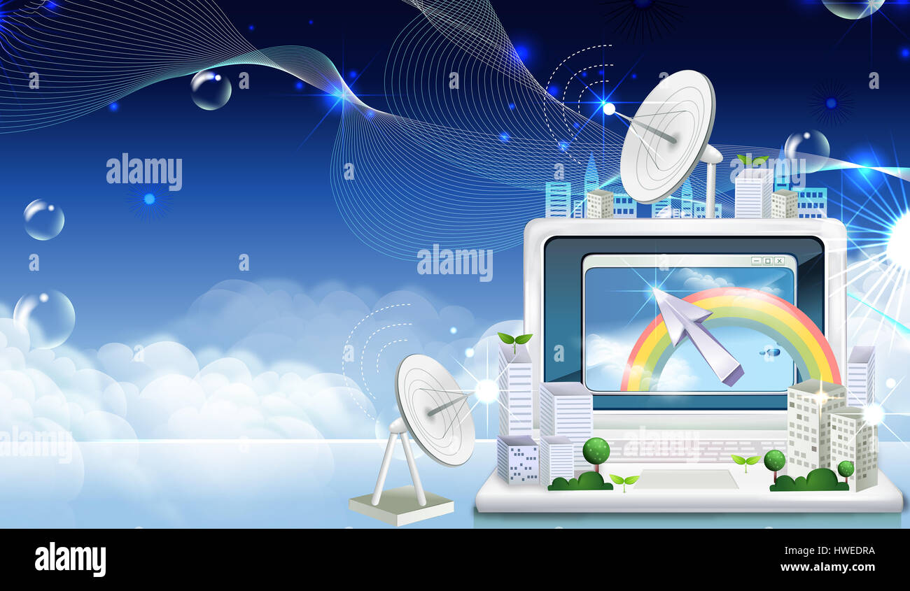 web,browser,internet,email,connected,desktop,click,mouse icon,arrow icon,arrow,sign,symbol,computer,satellite dish,global Stock Photo