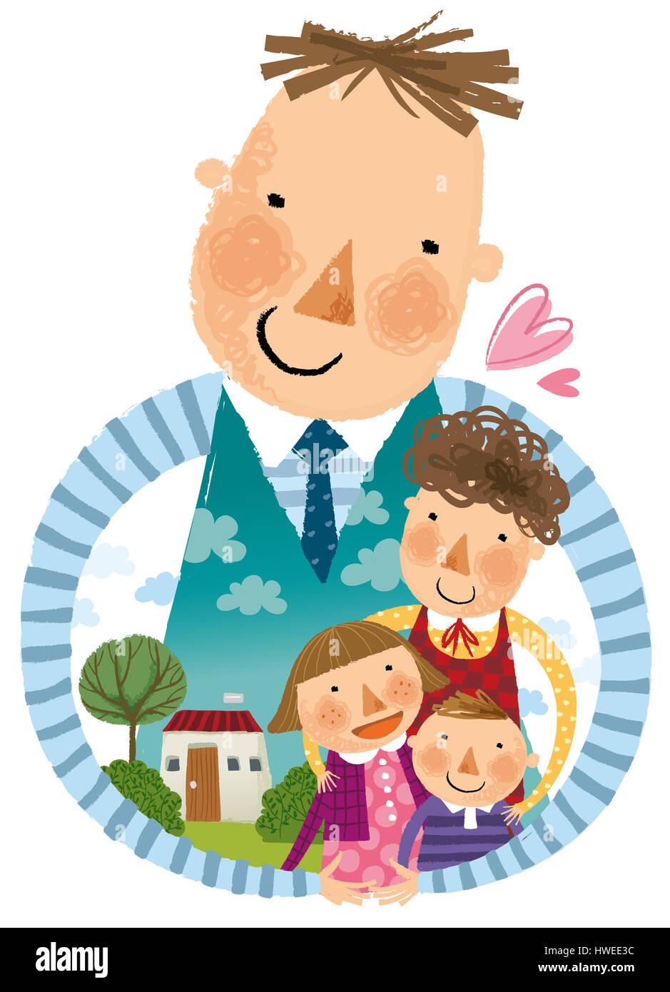 Fathermotherwomanmanchildrenchildboygirlhappyfamilyparents