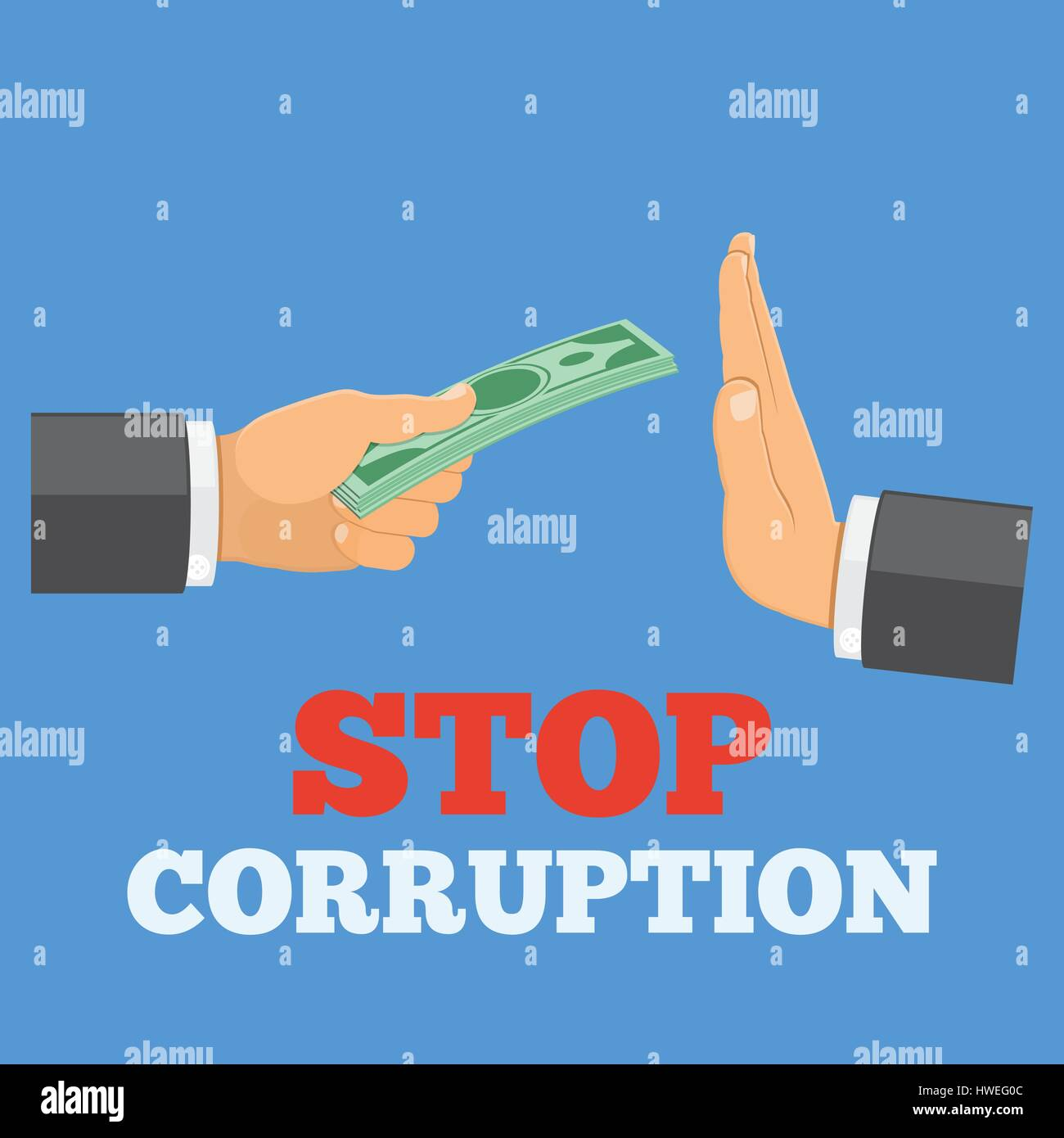 stop corruption concept - Stock Image