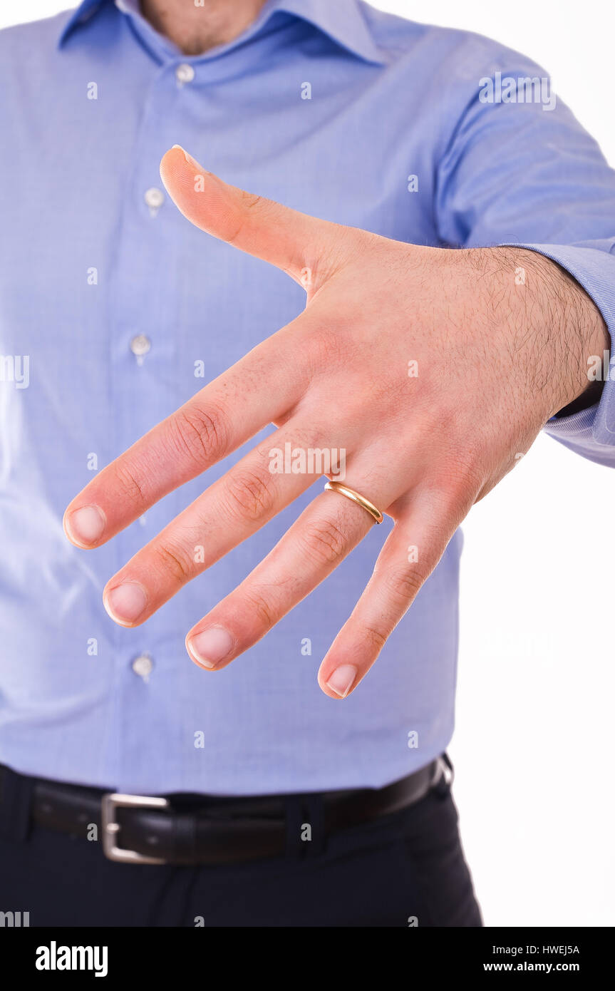 Young man showing his wedding ring Stock Photo: 136160566 - Alamy