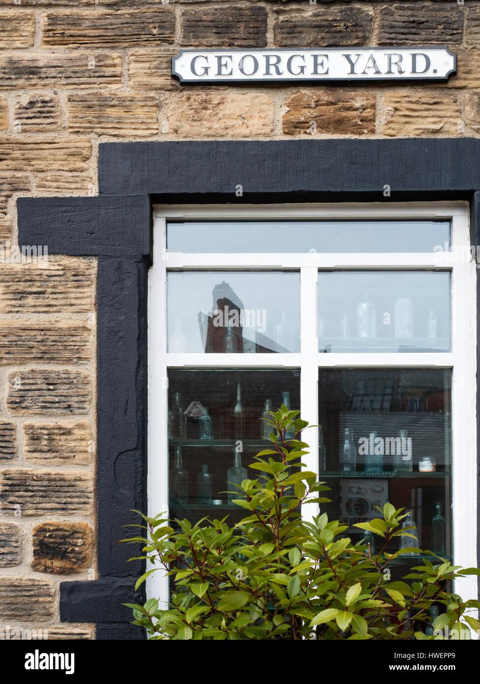 The Old Chemist Restaurant in George Yard Hanson Street Barnsley South Yorkshire England - Stock Image