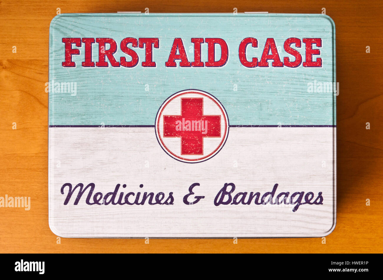 vintage first aid case - Stock Image