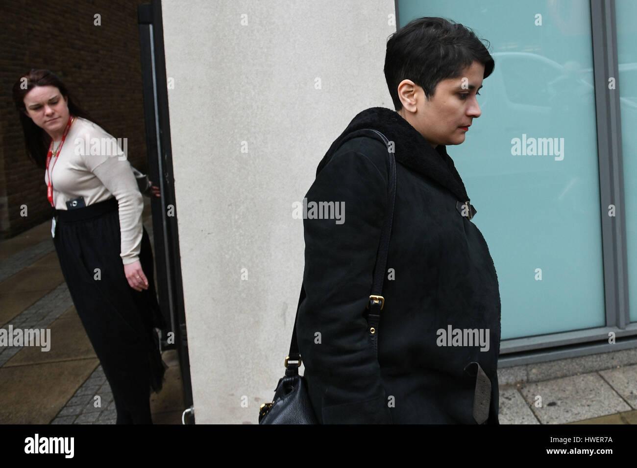Shadow attorney general Shami Chakrabarti departs after a