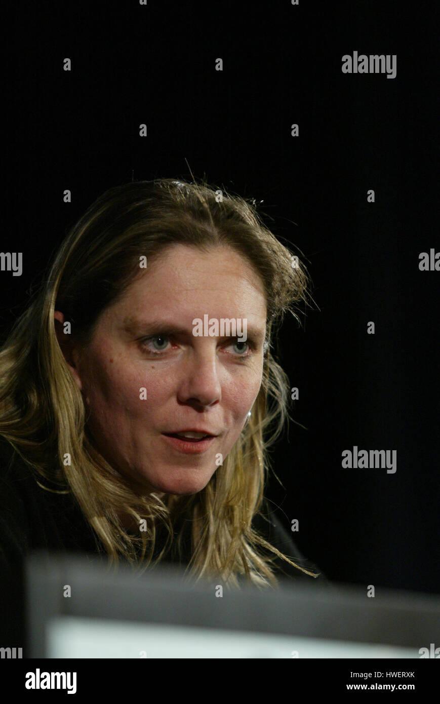 Jennifer Trosper, Jet Propulsion Laboratory mission manager for the Mars Rover Spirit talks about the latest developments - Stock Image