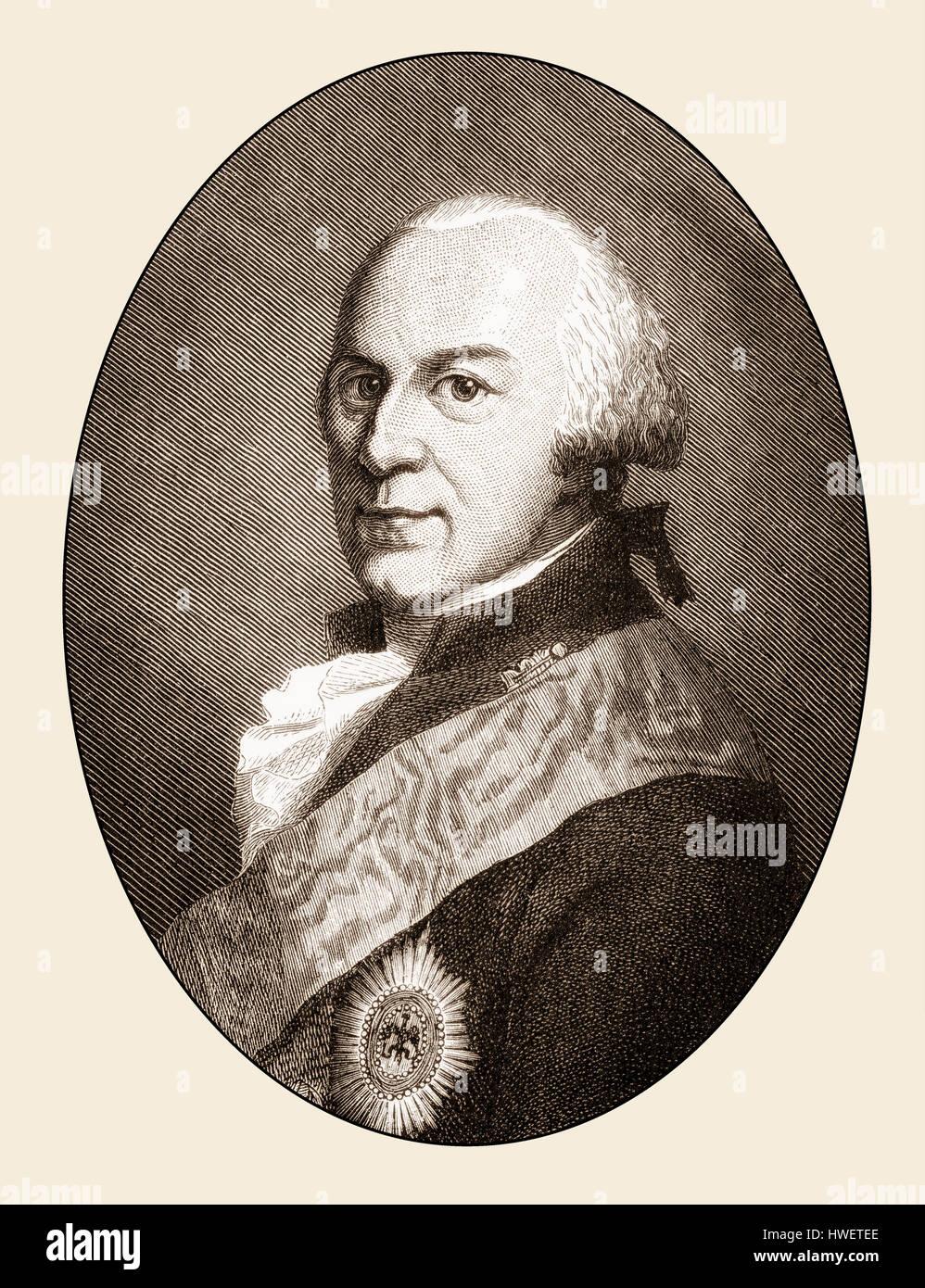 Charles William Ferdinand, Duke of Brunswick, 1735-1806 - Stock Image