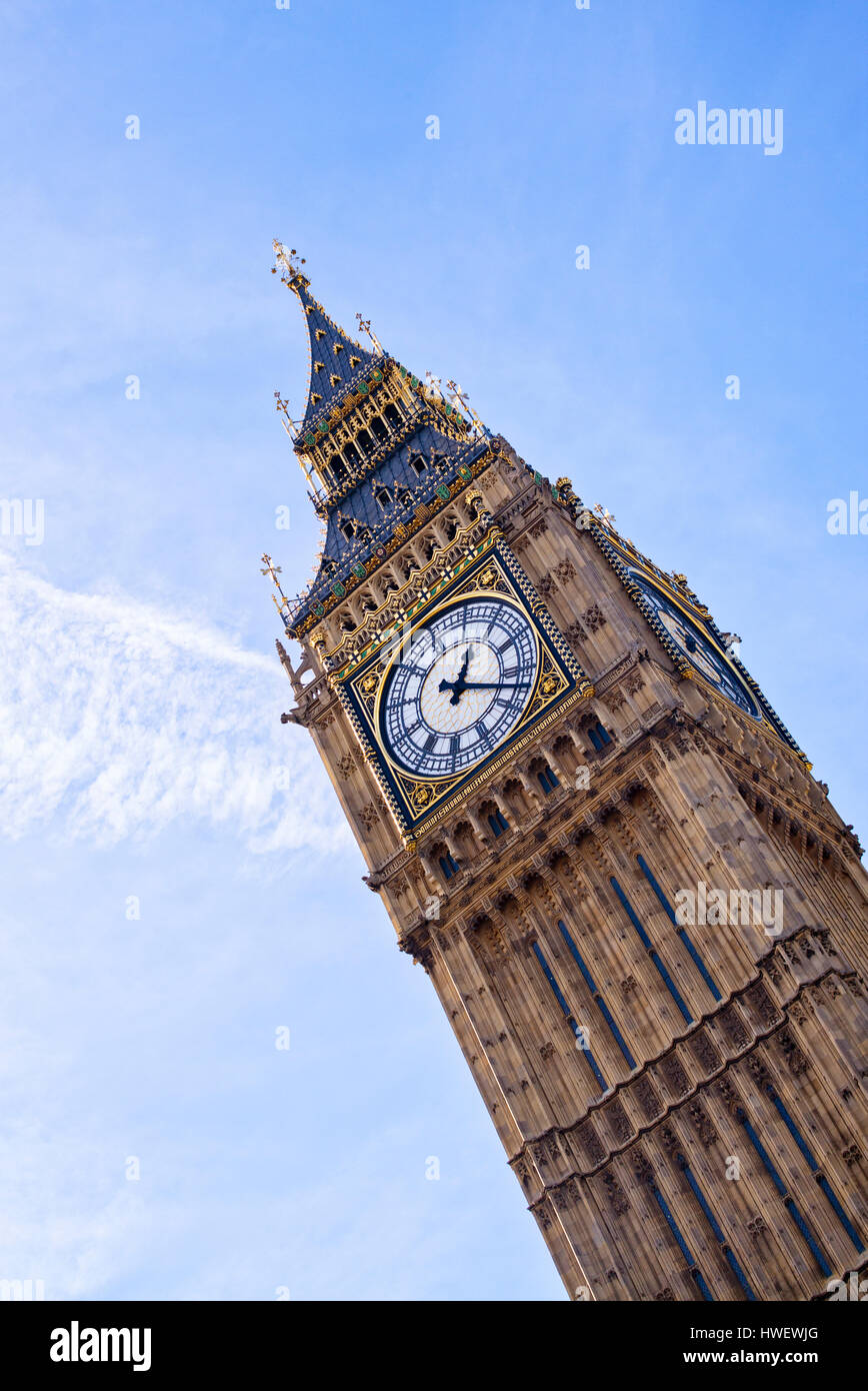 Big Ben, The Houses of Parliament, Westminster, London. UK Stock Photo