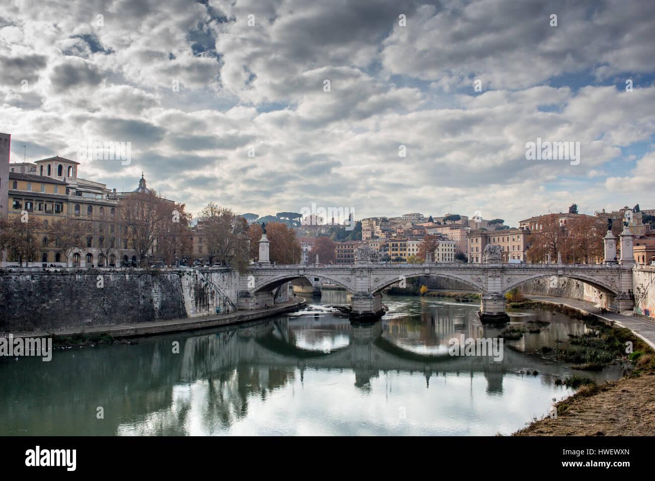 Engelsbrücke Rom Stock Photo
