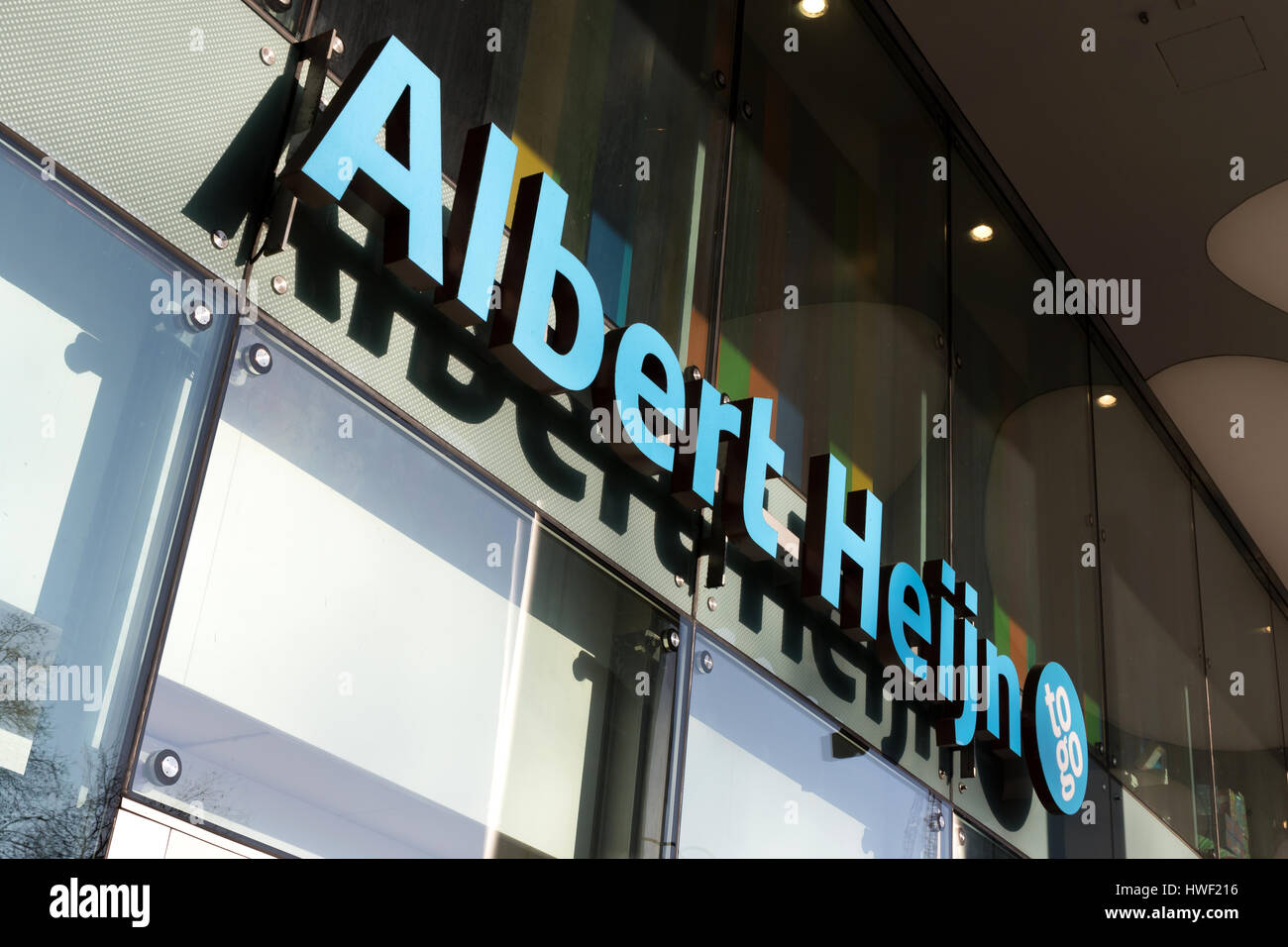Albert Heijn to go convenience store in Cologne/ Germany. Albert Heijn is the largest Dutch supermarket chain, founded - Stock Image