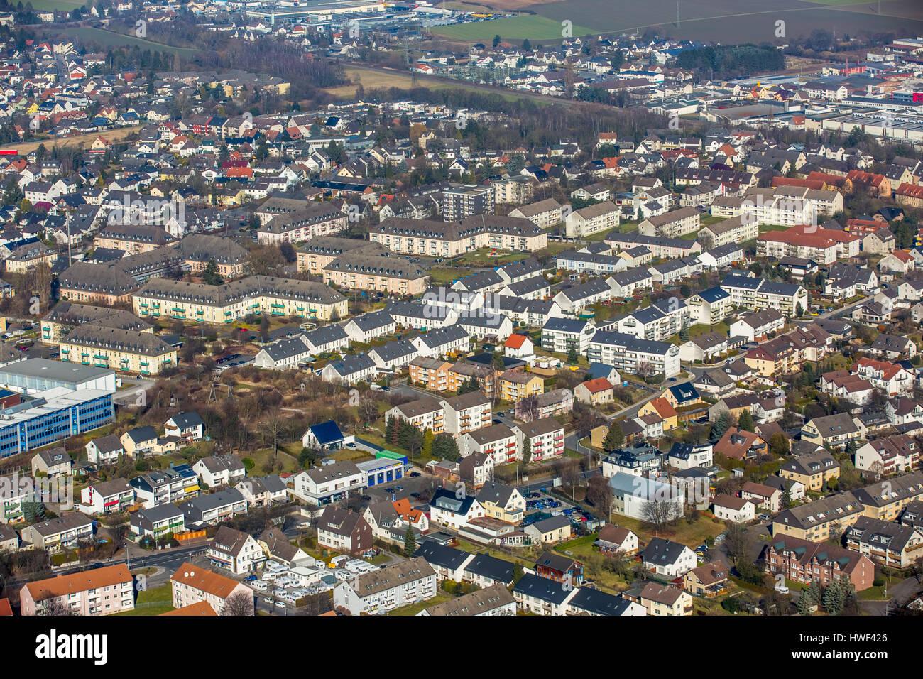 Platteheide, former barracks, former NAAFI Menden, Sauerland, North Rhine-Westphalia, Germany, Platte Heide, ehemalige - Stock Image