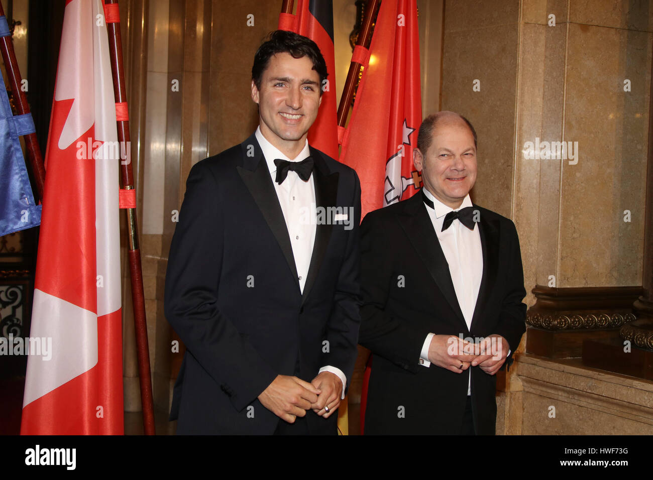 """Guest attending traditional annual Matthiae Mahl"""" (Dinner) 2017  Featuring: kanadischer Premierminister Justin Trudeau, Stock Photo"""