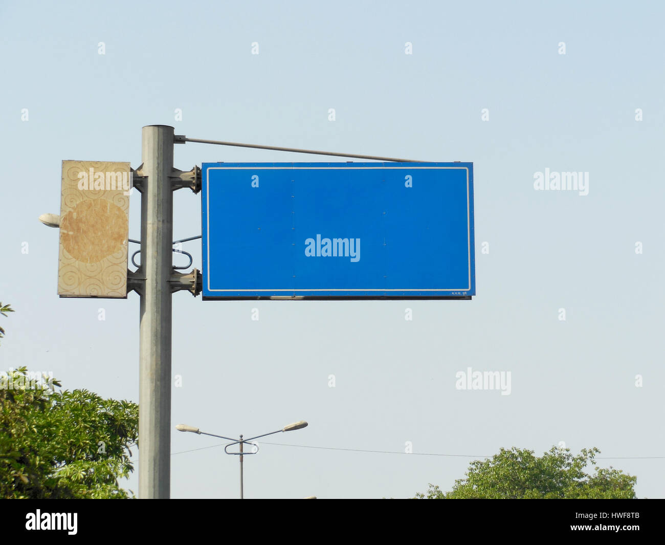 Road sign board, Pune, India Stock Photo