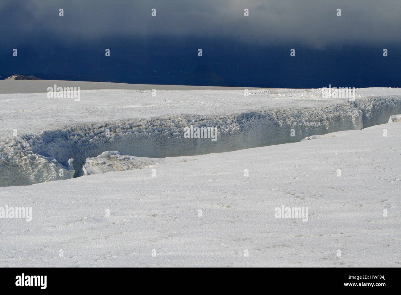 crevasse in Iceland - Stock Image