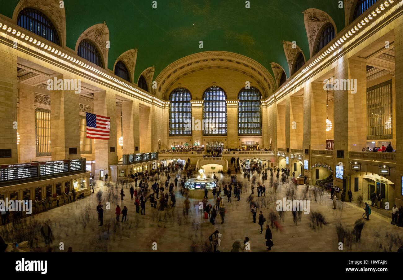 Interior of Grand Central Terminal - New York, USA - Stock Image