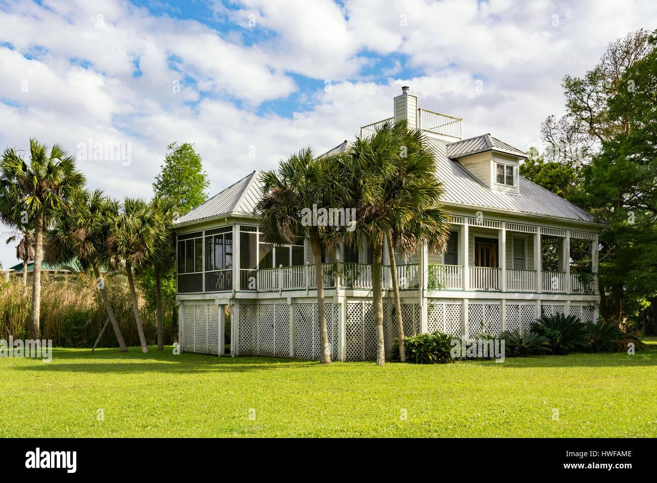 Florida, Apalachicola, private residence - Stock Image