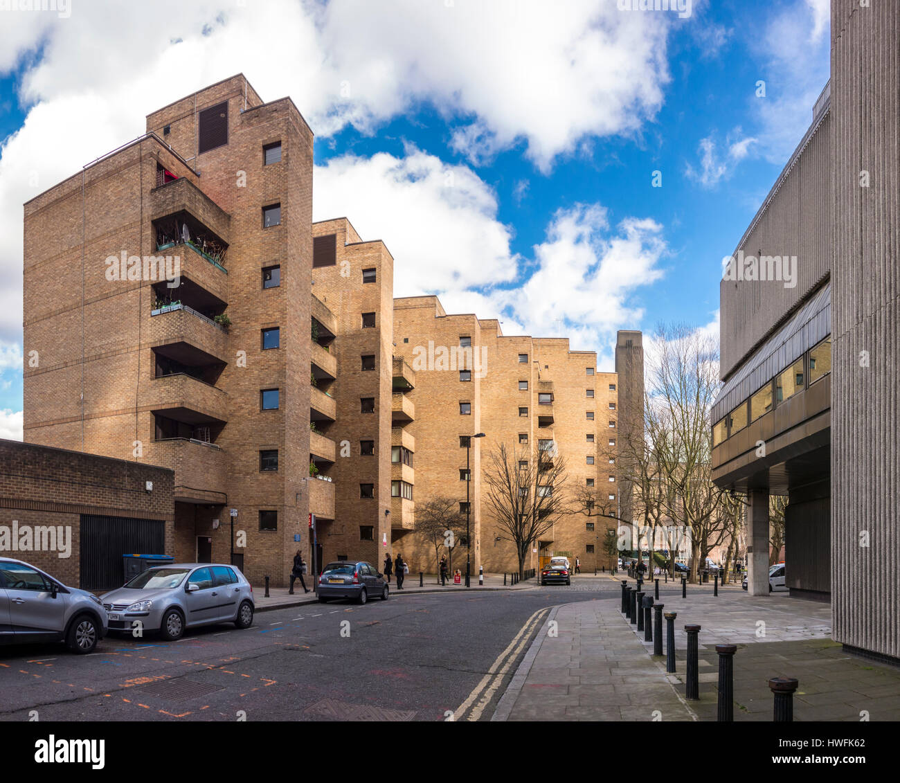 Falcon Point, former council house flats and apartments, Bankside, Southwark, London, UK - Stock Image