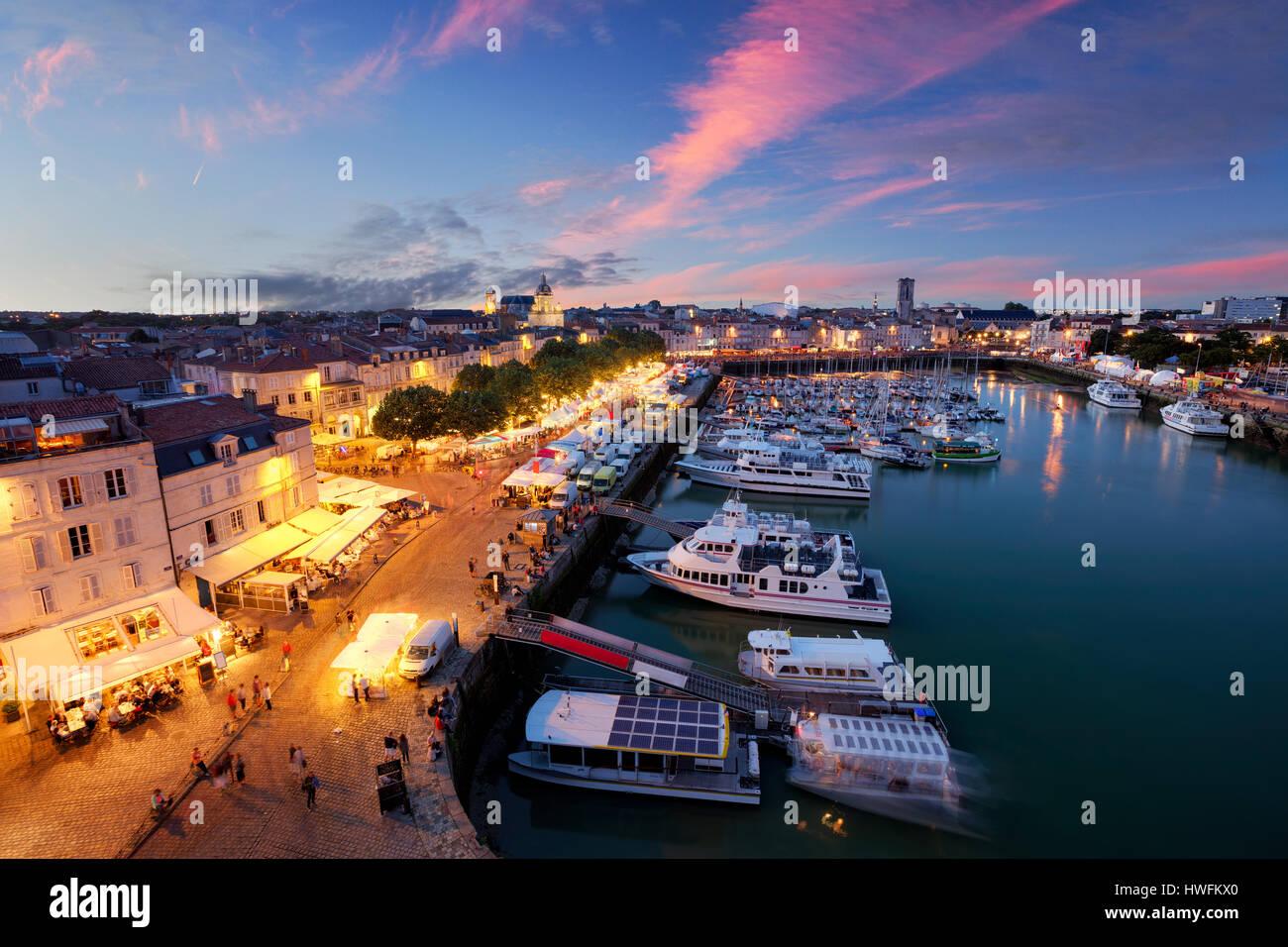 Old Harbour, La Rochelle, Poitou Charentes, France Stock Photo