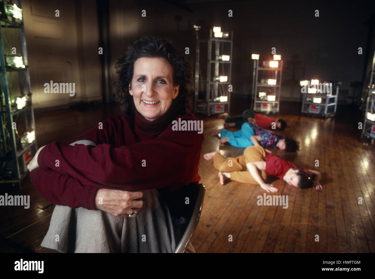 FILE: New York, USA. 18th Feb, 2009. Portrait of dancer and choreographer Trisha Brown in Soho, New York, 1992 with - Stock Image