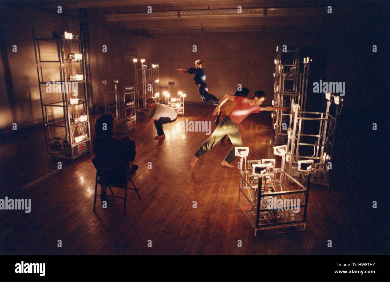 FILE: New York, USA. 18th Feb, 2017. American dancer and choreographer Trisha Brown in Soho, New York, 1992 rehearsing - Stock Image