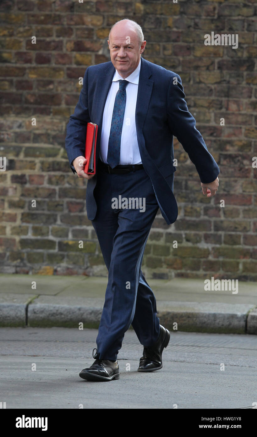 London, UK. 21st Mar, 2017. Damian Green Secretary of State for Work and Pensions seen attending the weekly cabinet - Stock Image