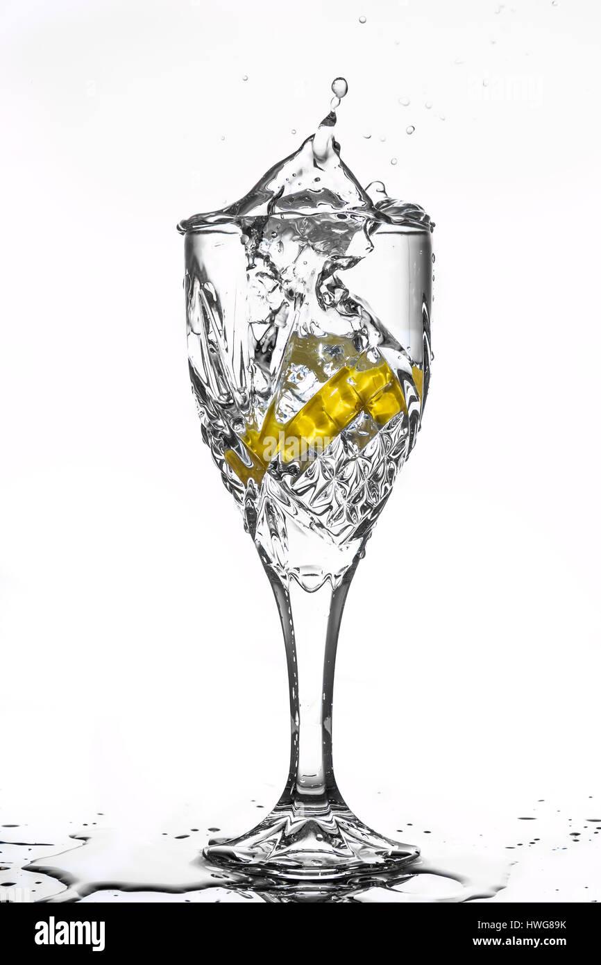 wine glass - Stock Image