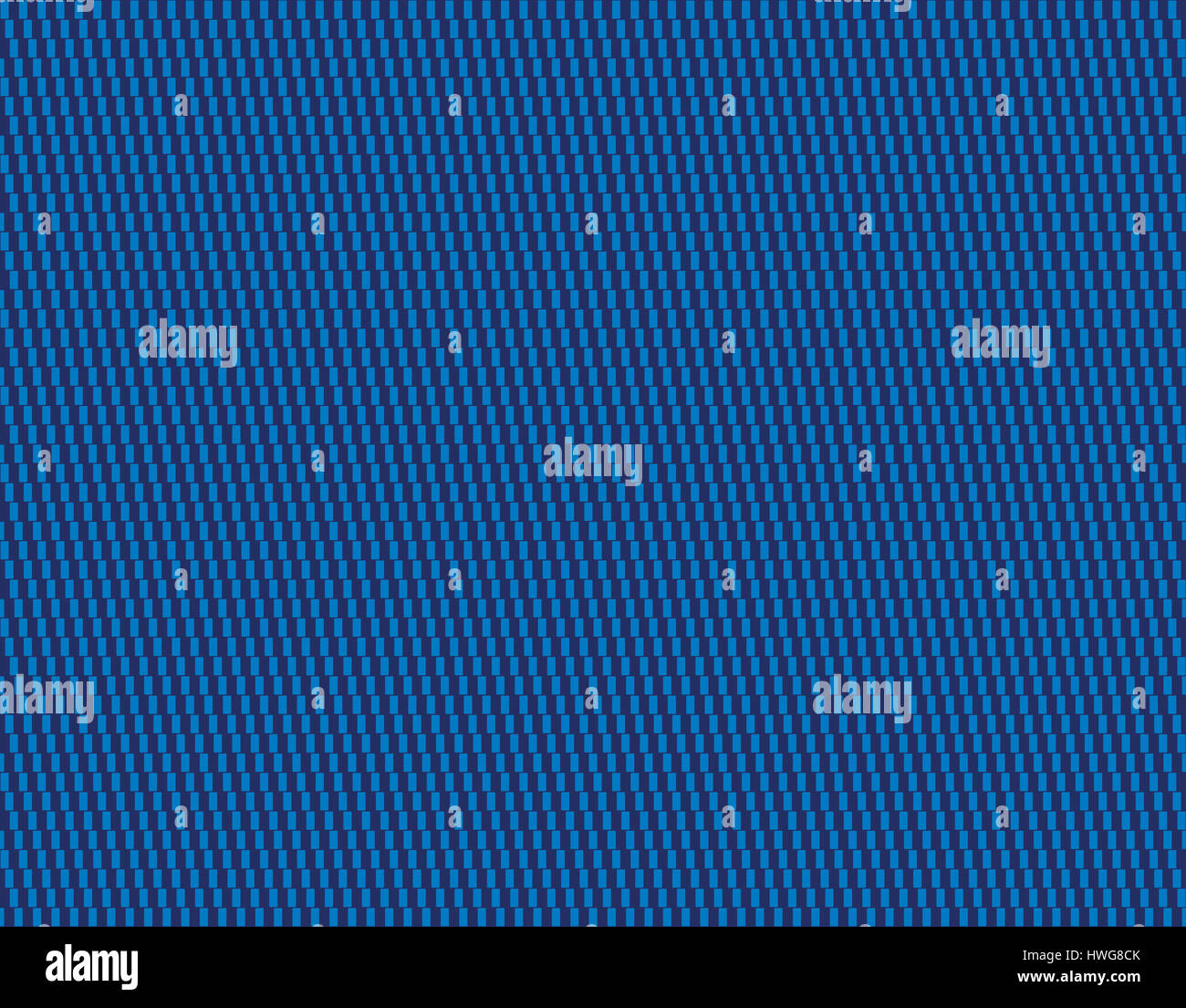 Blue textile pattern background. Cafe wall geometrical illusion tile. Seamless in all directions. Lines formed by - Stock Image