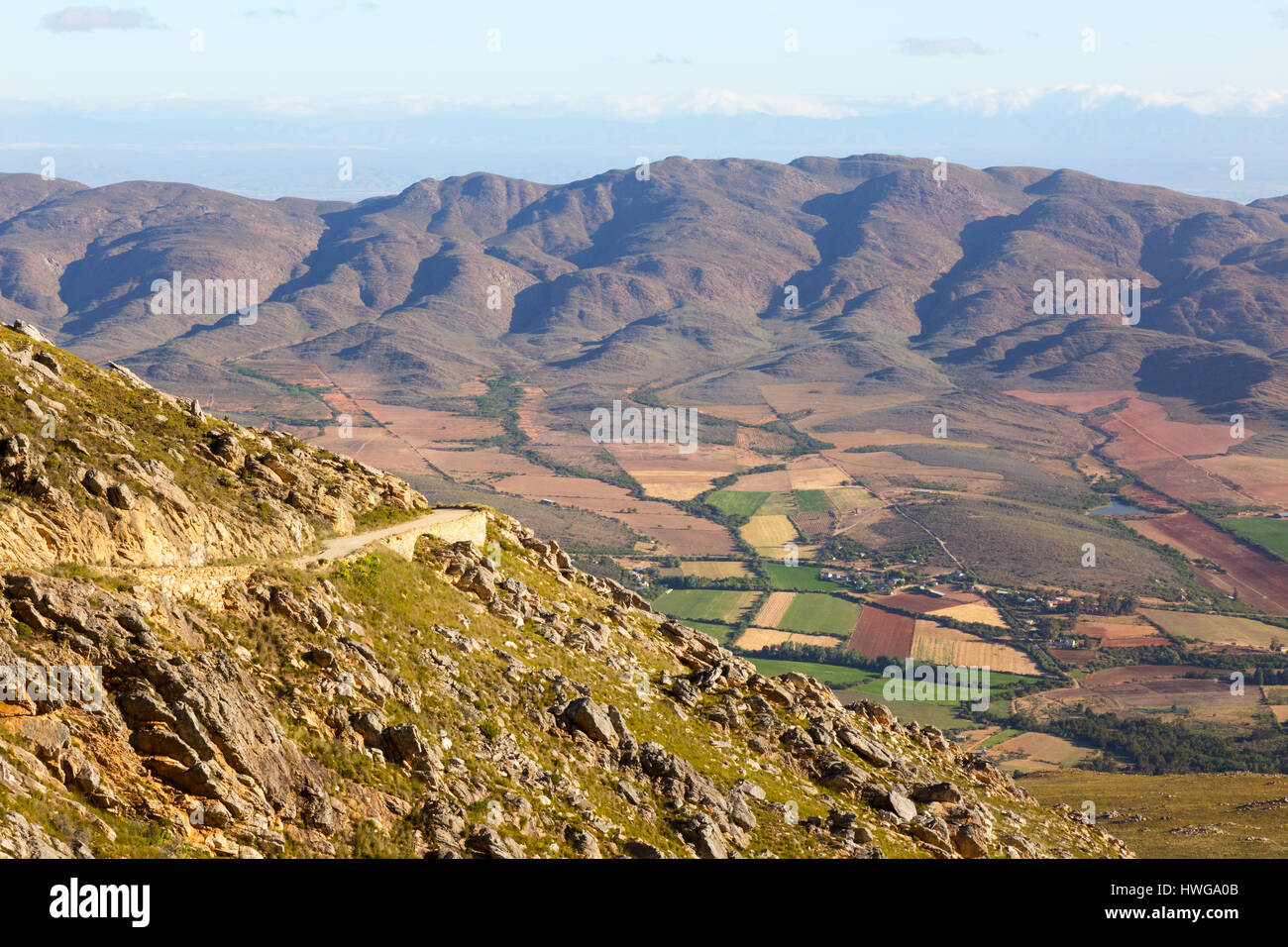 Swartberg Pass South Africa, a mountainous scenic drive in the Karoo, South Africa - Stock Image