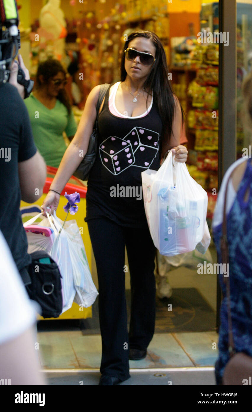 Sammi Sweetheart Giancola Shops At The 99 Cent Store During Fourth Season Of MTVs Jersey Shore In Florence Italy On May 14 2011