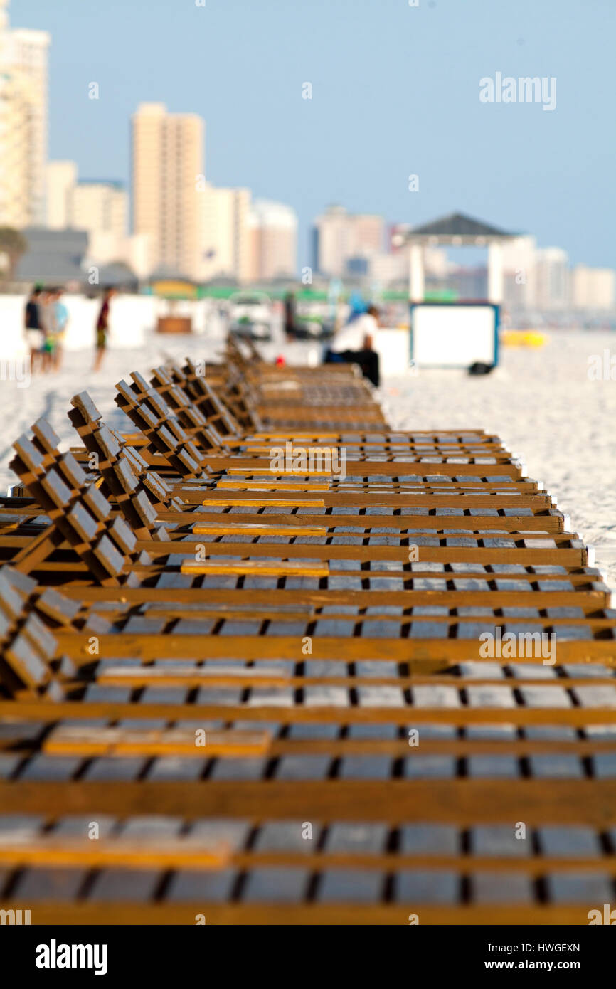 Panama City Beach, Florida during the height of spring break 2017. - Stock Image