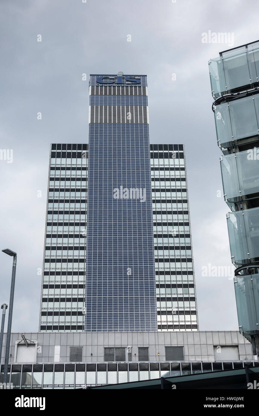 CIS Tower in Manchester, England. UK - Stock Image