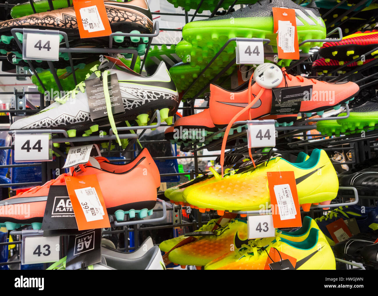 4943e2891 Nike football boots in Decathlon store