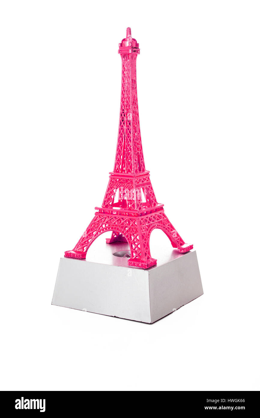 Eiffel tower from Paros France. French Souvenir. - Stock Image