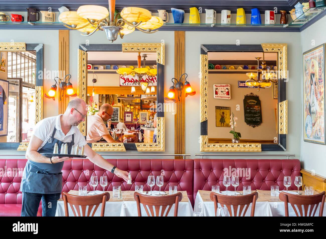Asian Kitchen Le Havre waiter in fish restaurant in stock photos & waiter in fish
