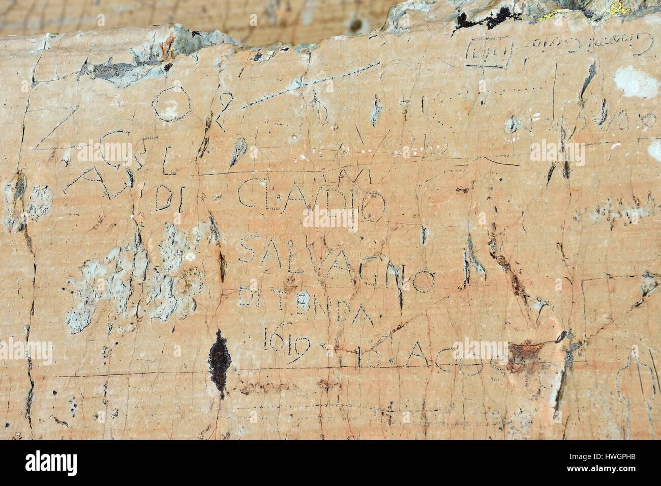 France, Alpes Maritimes, parc national du Mercantour (Mercantour National Park), the Vallee des Merveilles (Valley - Stock Image