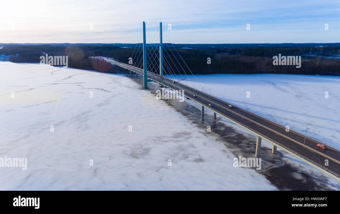 Tähtiniemen silta on E75 tiellä Stock Photo
