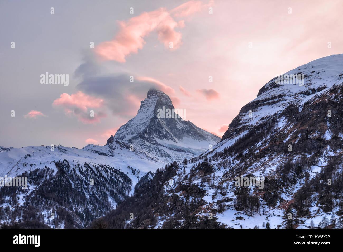 Matterhorn, Zermatt, Valais, Switzerland, Europe - Stock Image