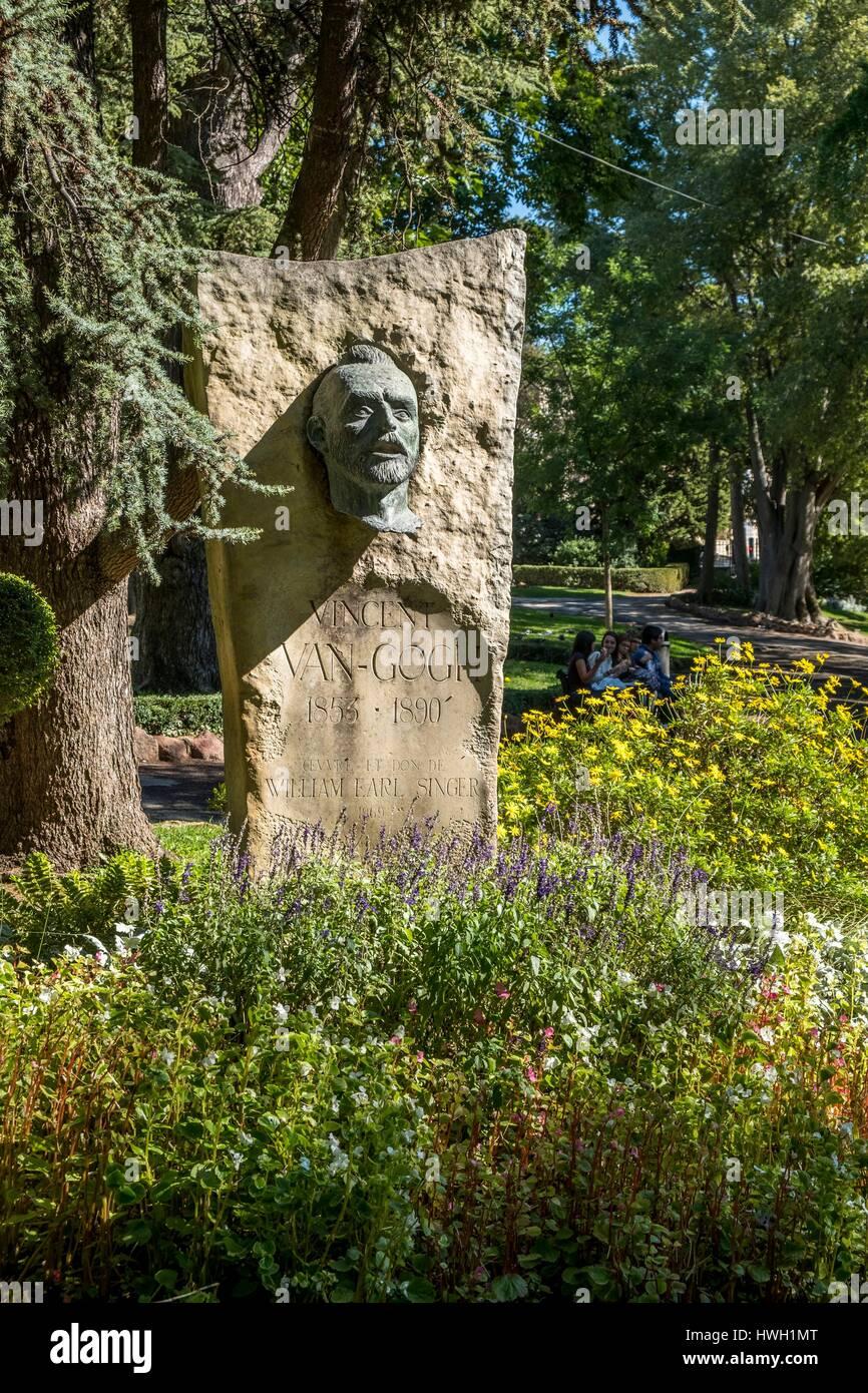 France, Bouches Du Rhone, Arles, Boulevard Des Lices, Summer Garden Tour Van