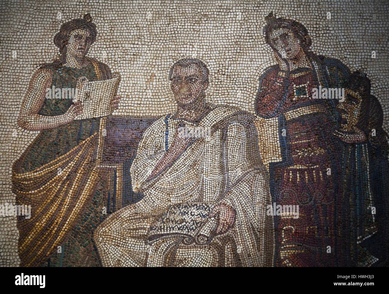 Tunisia, Tunis, Bardo Museum, Roman-era mosaics Stock Photo