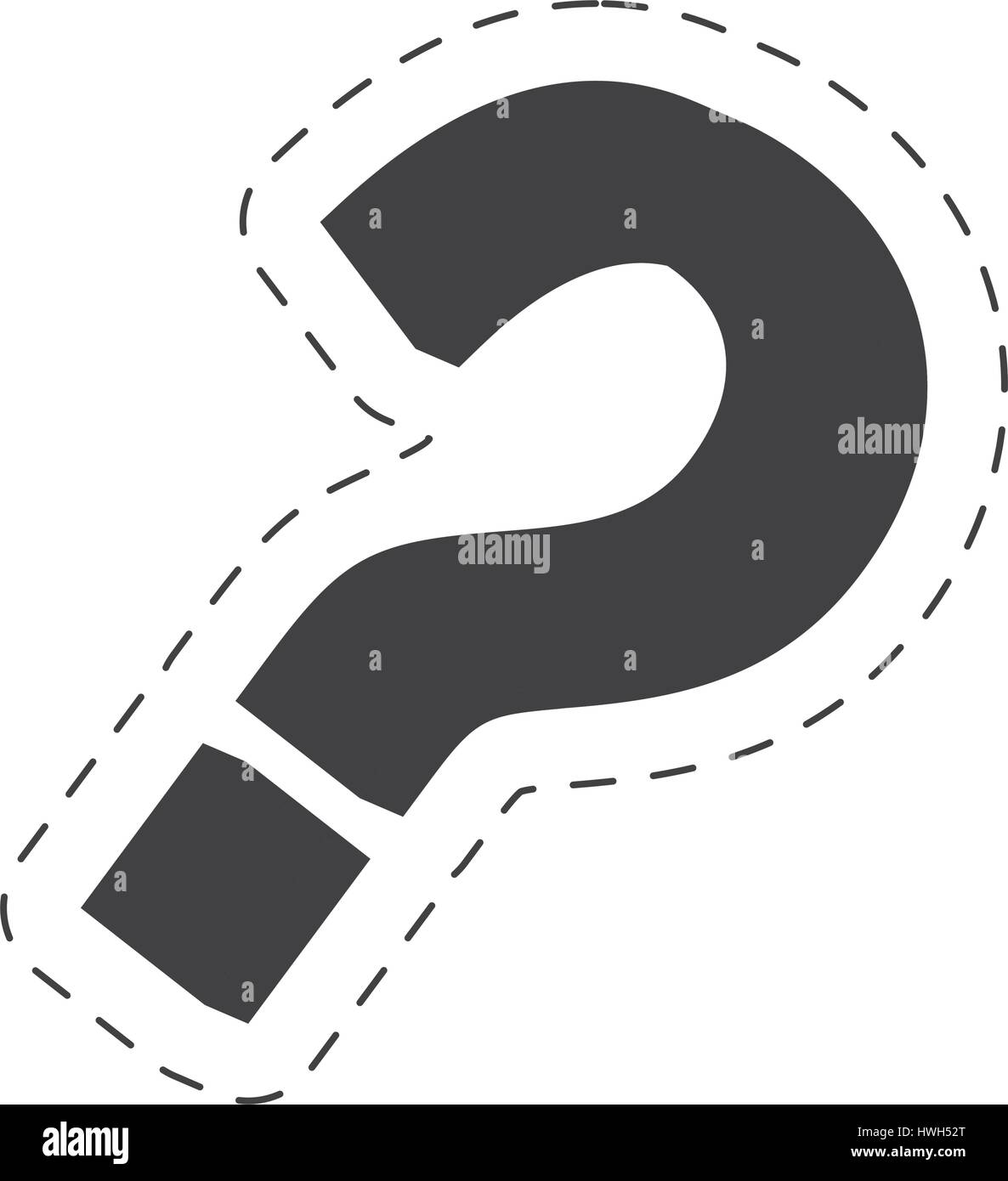 question mark image black - Stock Image