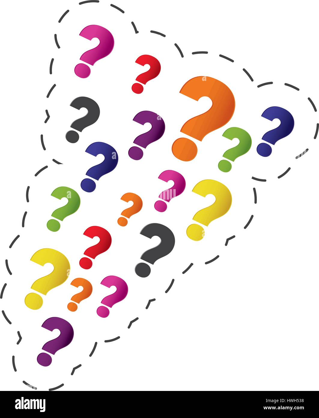 set question mark image - Stock Image