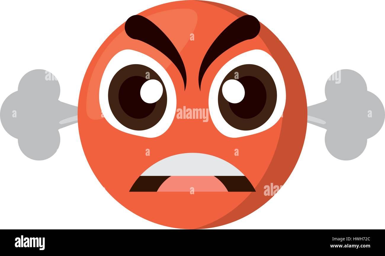 emoji furious expression image - Stock Image