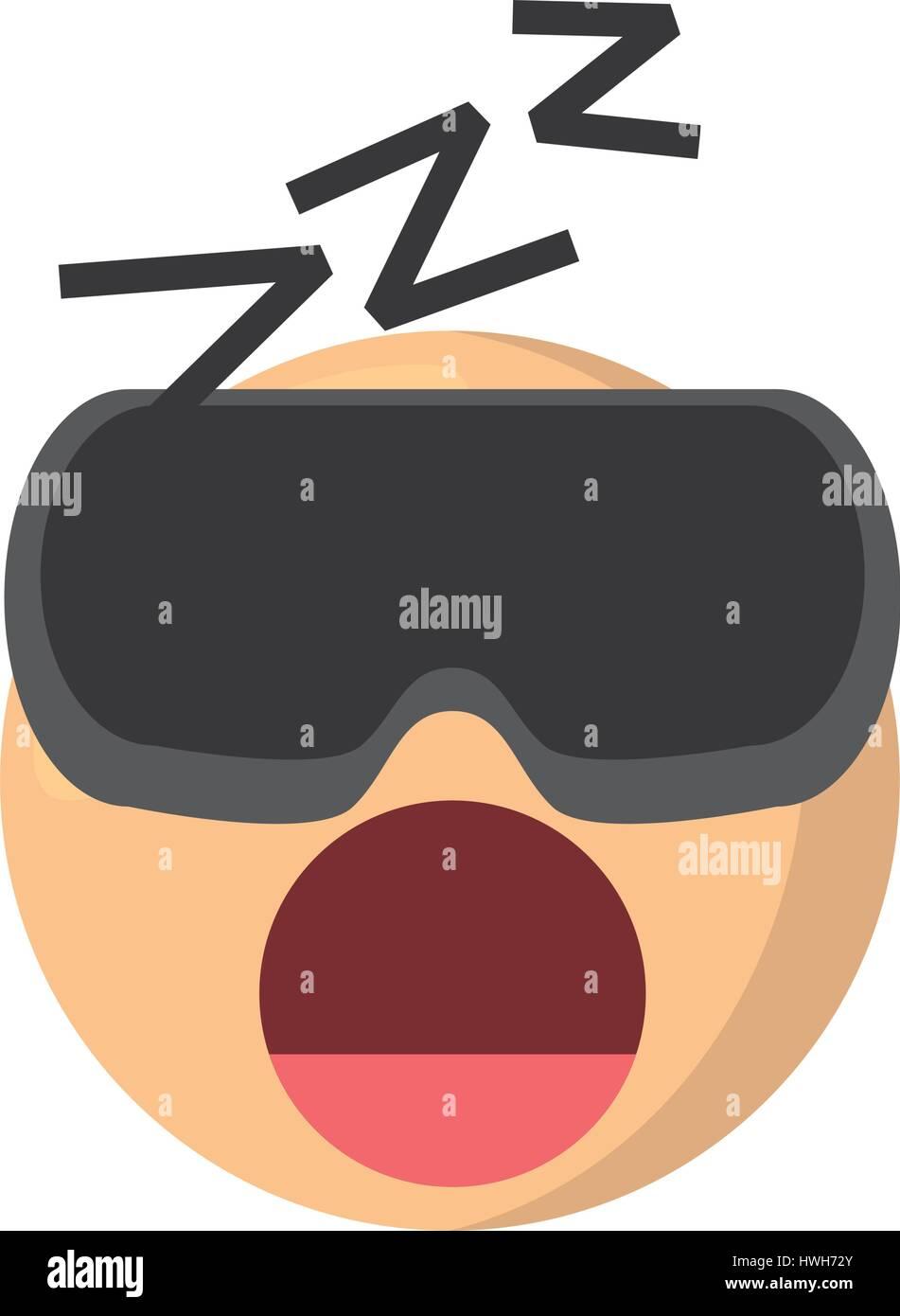 emoji sleep expression image - Stock Image