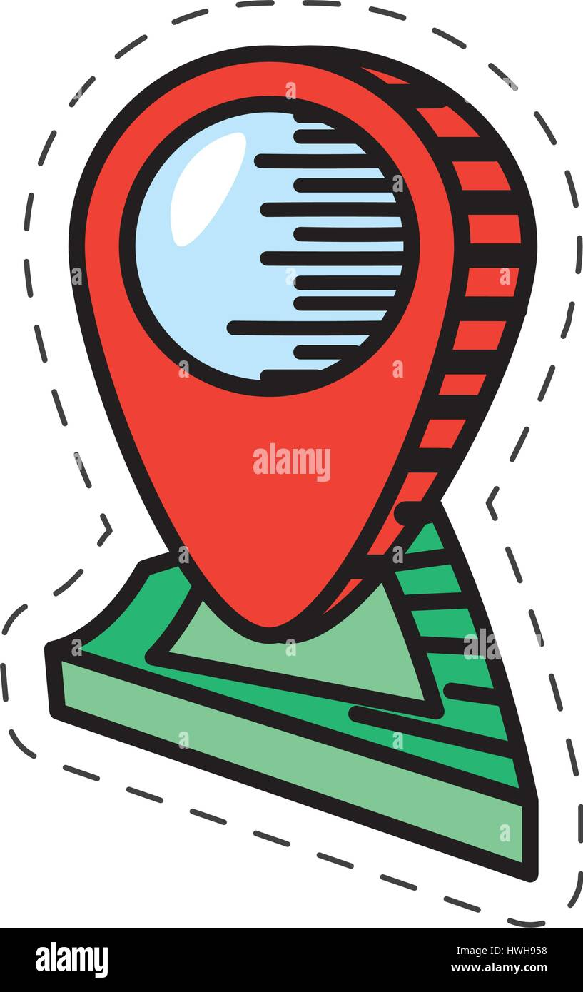 cartoon pointer map navigation location - Stock Image