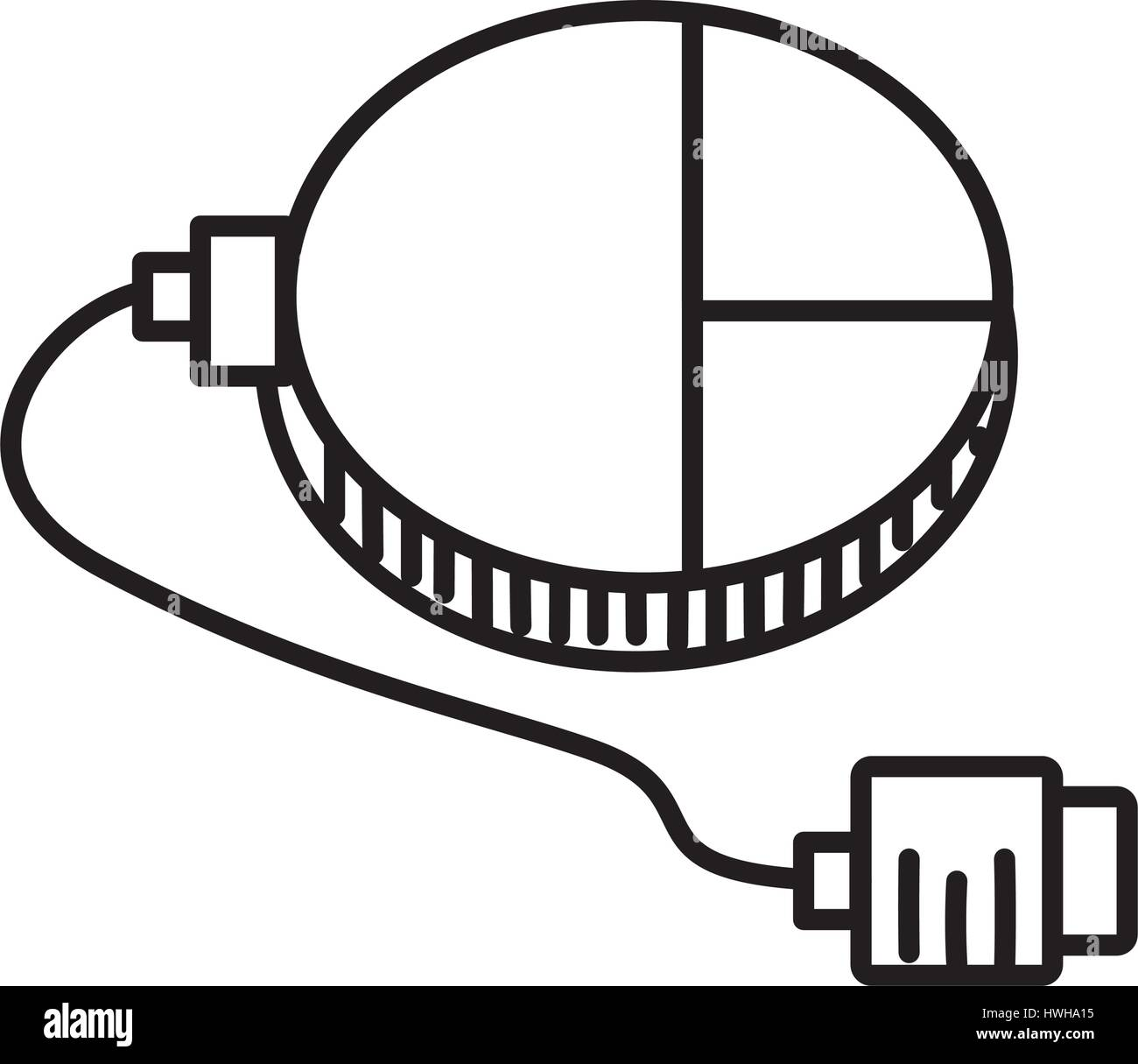 mouse connection usb outline Stock Vector