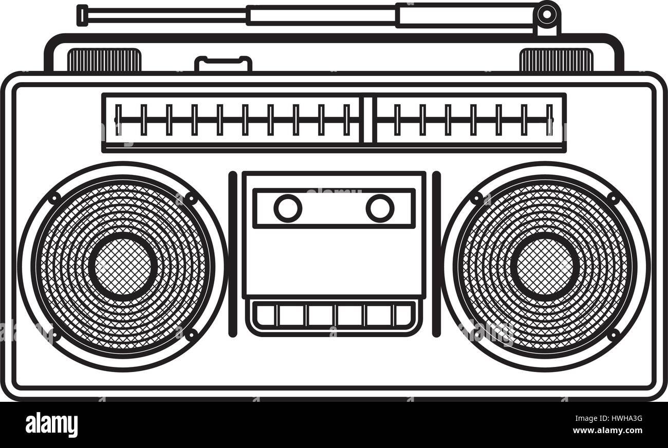Vintage radio stereo - Stock Image